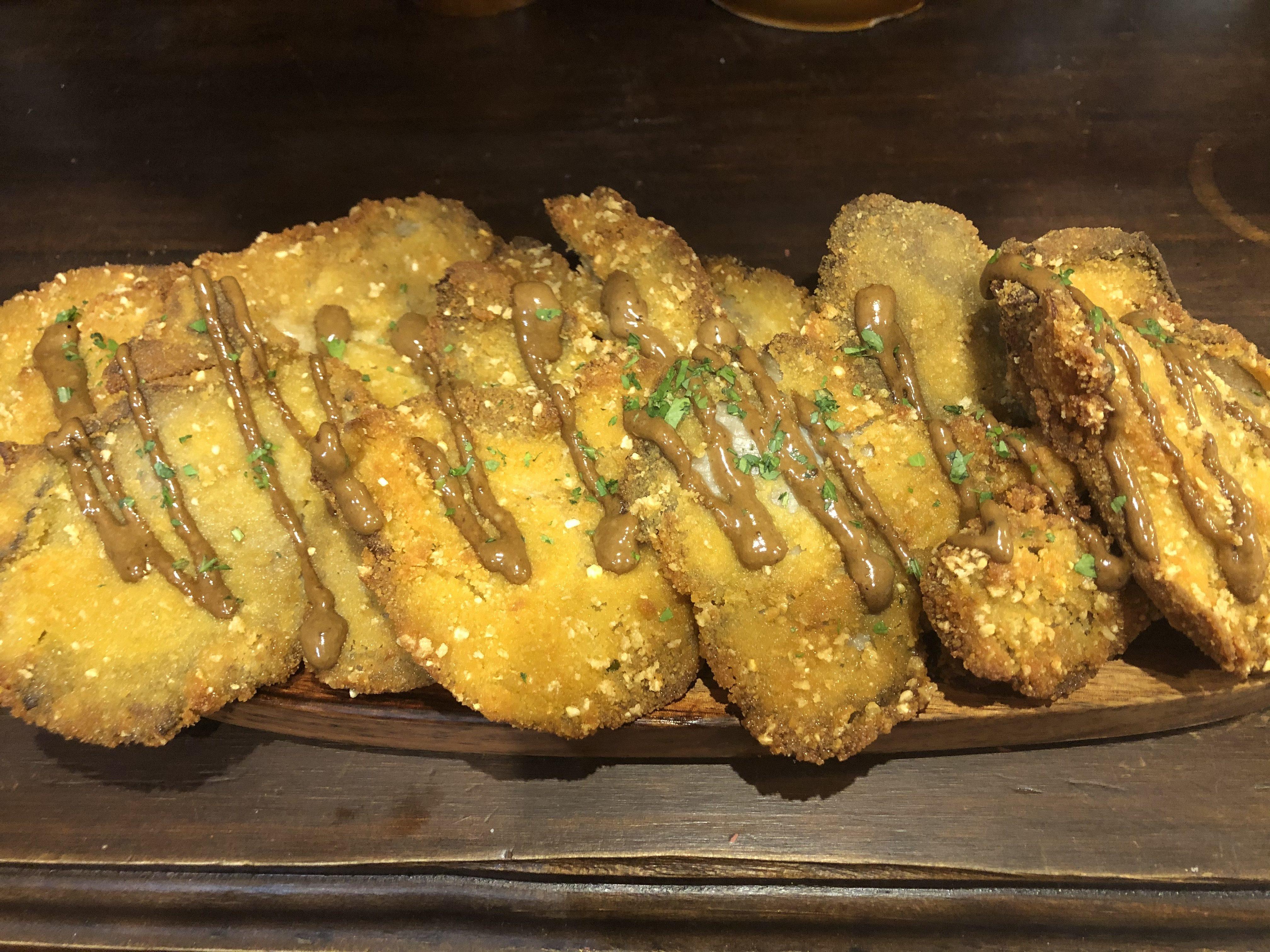 Setas al empanado crujiente